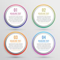 circular options for infographics with four steps