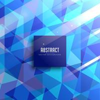 fond abstrait de triangles bleus