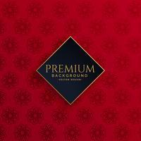 luxury vintage red pattern background