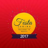 brazilian festajunina holiday background design