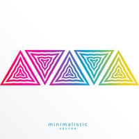 colorful abstract triangle shapes background