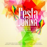 colorful festa junina greeting background