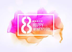 creative march 8 woman's day background with watercolor effect
