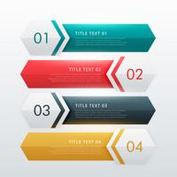 four steps modern infographic design template