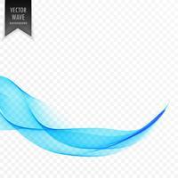elegant slät genomskinlig blå wvae bakgrund