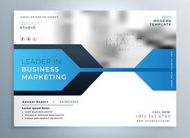 stylish blue business flyer design presentation template