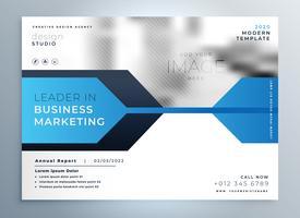 stylish blue business flyer design presentation template
