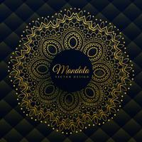 premium mandala decoration in golden ethnic style