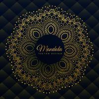 décoration de mandala premium dans un style ethnique doré