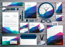 modelo de design de identidade corporativa abstrato papelaria