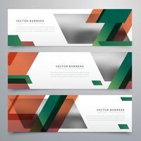 bannières commerciales avec des formes géométriques abstraites
