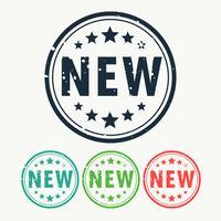 novo selo rótulo crachá no estilo gunge