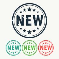 Ny stämpel etikett emblem i gunge stil