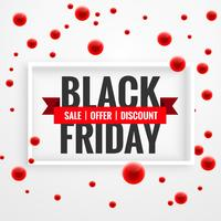amazing black friday sale banner with red dots