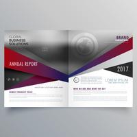 Revista creativa plantilla de cubierta de folleto para la promoción