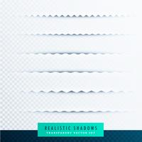 zigzag paper shadows effect collection on transparent background