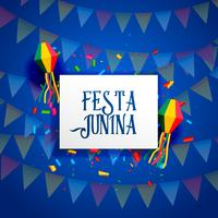 festa junina celebration background design vector
