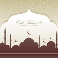 tarjeta de festival eid hermoso fondo