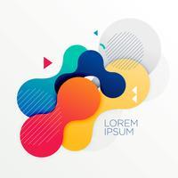Fondo abstracto de formas redondas de colores