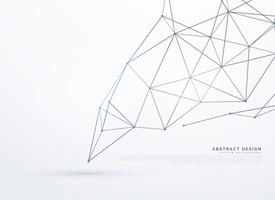 weißer Hintergrund mit polygonalen Linien