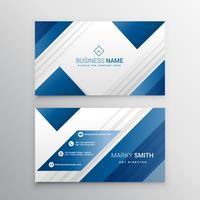 modernt visitkort i blå färg