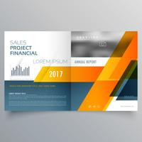 modèle de vecteur créatif bi pli brochure magazine page design