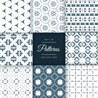 set of amazing pattern design vector background