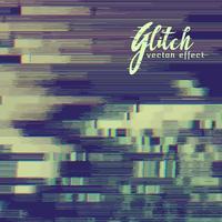 glitch effect achtergrond met vervorming
