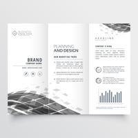 abstrakte dreifach gefaltete Broschüre Designvorlage