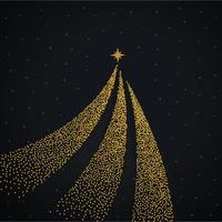 design créatif arbre de noël doré avec des points
