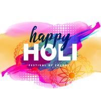 colorful illustration of holi festival