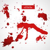 röd blod fläck splatter set vektor