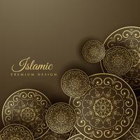 Fondo islámico con decoración mandala.
