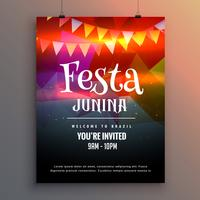 festa junina party invitation flyer design template