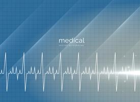 Fondo de vector médico con línea de heartbeal