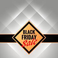 Plantilla de banner promocional de viernes negro con símbolo yl brillante