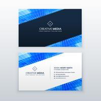 Plantilla de vector de diseño de tarjeta de visita azul