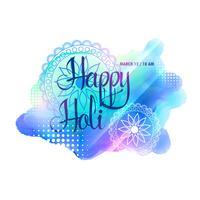 creative watercolorful holi festival background