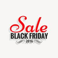 black friday 2016 sale design with shadow effect