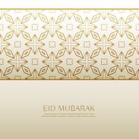 Fondo de festival eid islámico con patrón dorado.