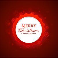 Fondo festival de feliz navidad en color rojo