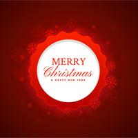 merry christmas festival background in red color