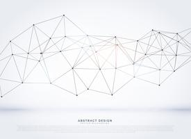 digital network wireframe vector background