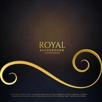 fond de vecteur floral doré royal