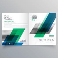 plantilla de diseño de folleto empresarial creativa profesional bifold w