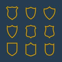 collection of badges symbol in line style