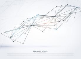 Malla de alambre abstracta hecha con líneas, fondo digital.