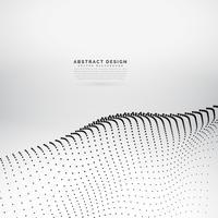 digital particle landscape vector background