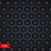 donker zeshoekig patroon achtergrondontwerp