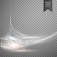 abstrakt vit transparent ljus effekt bakgrund